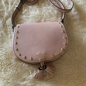 Victoria Secret Blush Pink Purse with Gold Studs